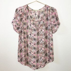Anthropologie Daniel Rainn Floral Blouse